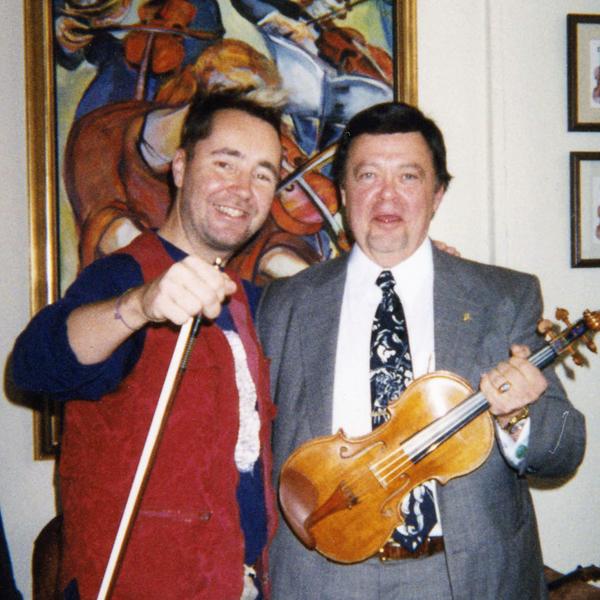 Nigel Kennedy with Geoffrey Fushi